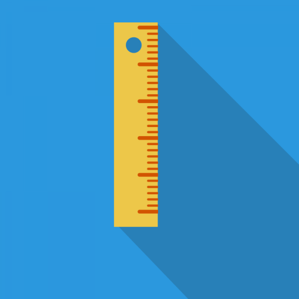 Meetlat en KPI blauw